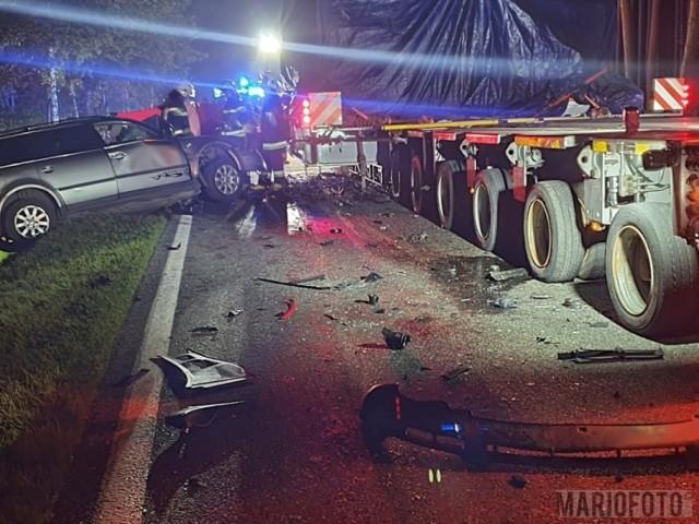 Wypadek w Trzebiszynie na drodze krajowej nr 45.
