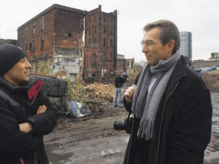 Prace rozbiórkowe na terenie Eskimo zablokowali wczoraj konserwatorzy zabytków: Bartosz Walczak i Piotr Ugorowicz