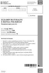 Matura 2016 polski - Lalka i Dziady [Arkusze PDF, ROZPRAWKA, WIERSZ, ODPOWIEDZI]