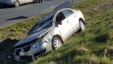 Wypadek koło Barwic. Kierująca z promilami [zdjęcia]