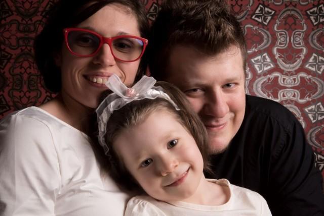 Marta Smorczewska z rodziną