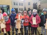 Uczniowie ze szkoły w Trąbkach Wielkich czekają  na wiosnę i wypatrują ptaków |ZDJĘCIA