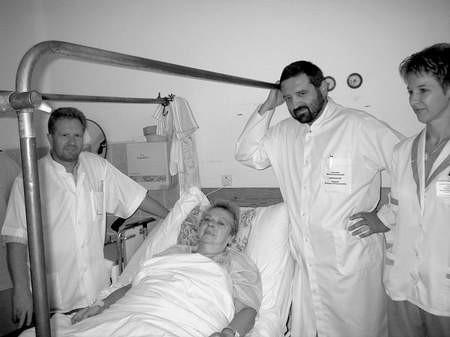 Pani Maria Chyży z Czarnkowa jest jedną z najstarszych pacjentek chodzieskiej ortopedii. Fot. M. Szałata