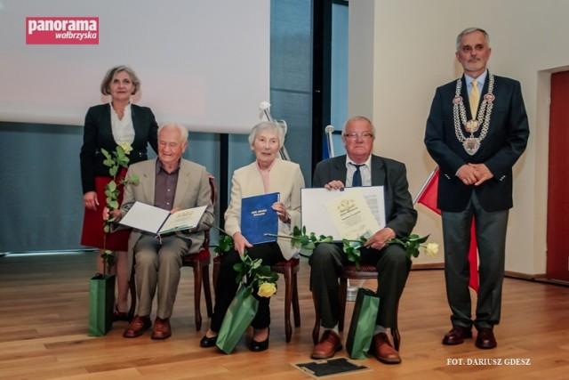 Uroczystość Święta Miasta Wałbrzycha, zorganizowana w auli Państwowej Wyższej Szkoły Zawodowej im. Angelusa Silesiusa w Wałbrzychu