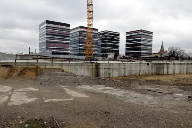 Plac budowy biurowca Silesia for Business w Katowicach