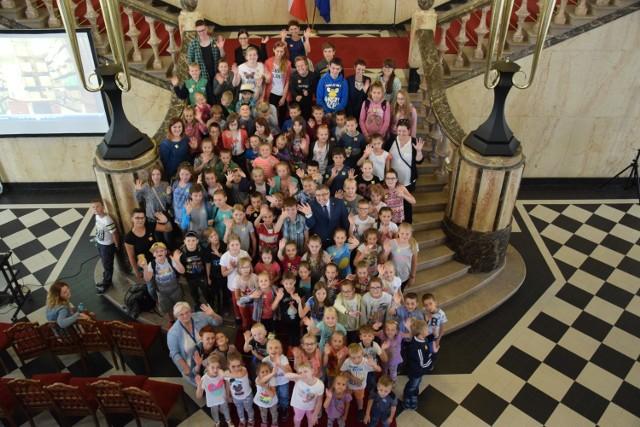 Wizyta dzieci w Śląskim Urzędzie Wojewódzkim