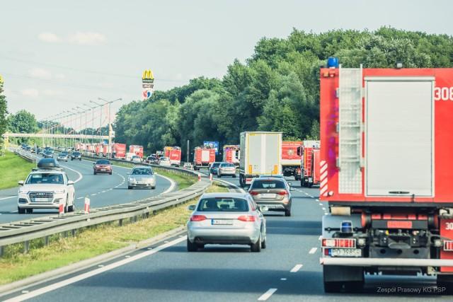 Polscy strażacy w drodze do Grecji