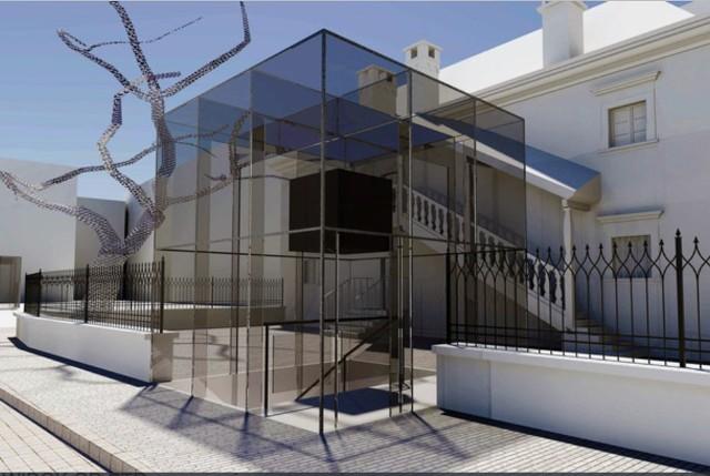 Projekt wejścia do nowego Muzeum Teatru