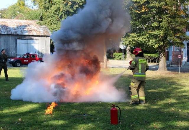 """""""Pożar"""" w garnizonie 3 batalionu drogowo-mostowego w Chełmnie"""