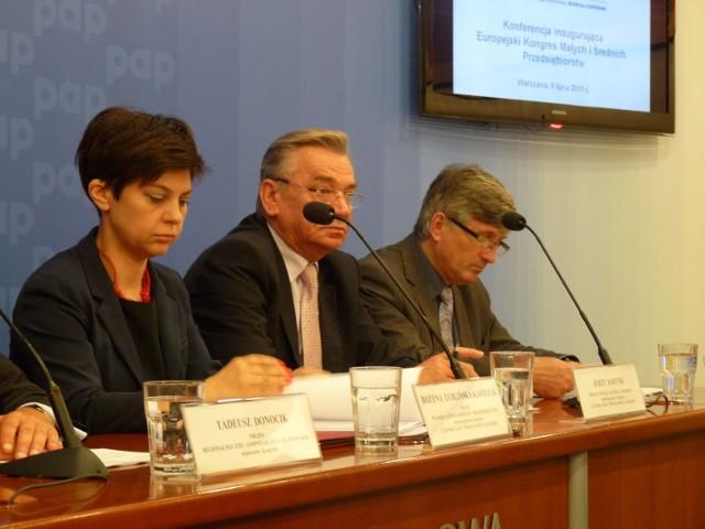 od lewej: Bożena Lublińska - Kasprzak, Jerzy Bartnik, Marek Kłoczko