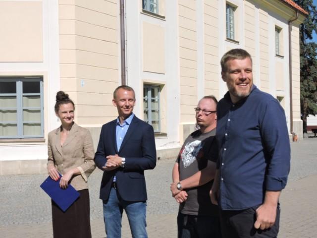 Podlaska reprezentacja Partii Razem i jej lider Adrian Zandberg