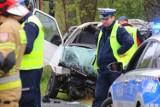 Śmiertelny wypadek na drodze Lisowice - Szczytniki nad Kaczawą
