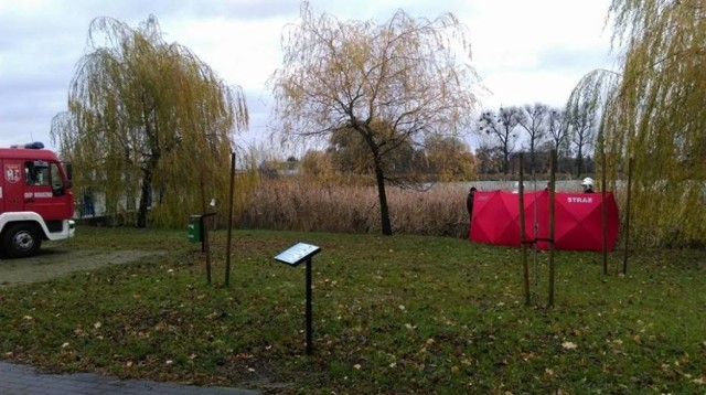 71-latek znaleziony w oczku wodnym w Chełmnie utopił się