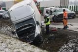 Wypadek na autostradzie A4, dwie osoby ranne ZDJĘCIA