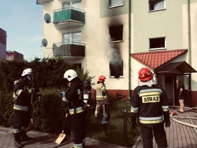 Pożar mieszkania w Nysie.