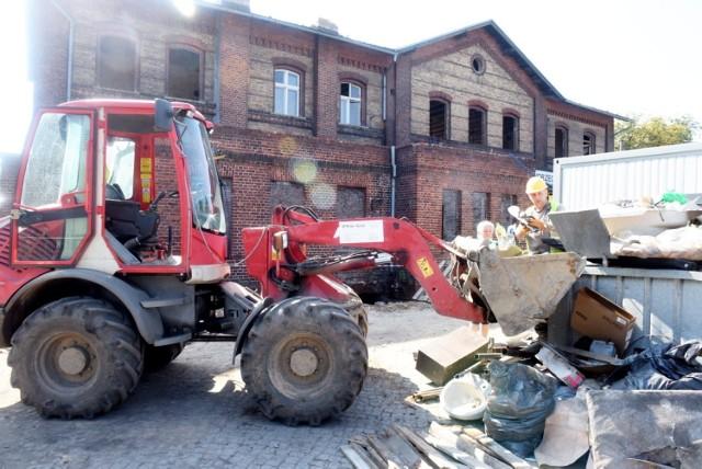 Trwają prace na dworcu PKP w Świebodzinie.