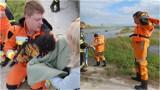 Jadowniki Mokre. Pies uwięziony pod mostem. Ratowali go wolontariusze z Psiomocnych oraz strażacy [ZDJĘCIA]