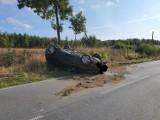 Zdarzenie samochodu z ciężarówką na drodze Szczecinek – Barwice [zdjęcia]