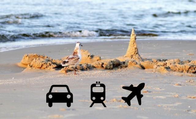 Kierunek: Bałtyk. Jak dojechać nad morze? Samochód, pociąg czy samolot? Wyścig polskich miast do 3 kurortów nad Bałtykiem: Gdańsk, Kołobrzeg i Szczecin