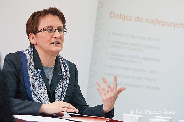 """Barbara Kaśnikowska, prezes Wałbrzyskiej Specjalnej Strefy Ekonomicznej """"Invest-Park"""""""