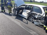 Kolejny wypadek na drodze S5 na kościańskim odcinku [FOTO]
