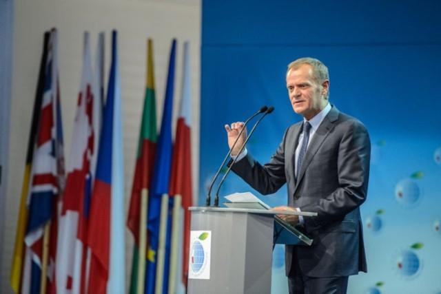 Premier RP Donald Tusk podczas sesji inauguracyjnej XXIII Forum Ekonomiczne w Krynicy-Zdroju