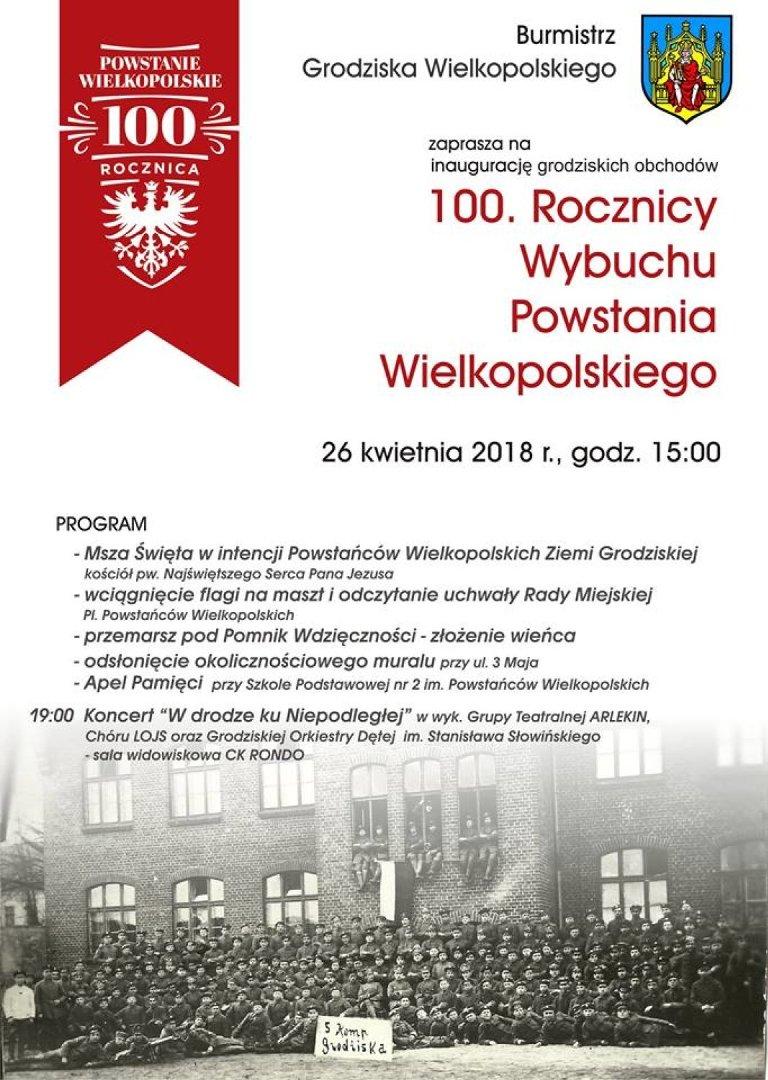 edb8016116 Grodzisk Wielkopolski  Uczcijmy bohaterów! Zapraszamy na obchody 100 ...