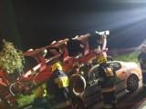 Wieczorny wypadek w Szadku. Dwie osoby poszkodowane ZDJĘCIA