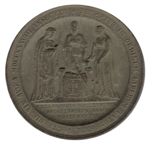 Medal masoński znaleziony koło Barwic