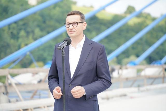Wizyta premiera Morawieckiego w Kurowie koło Nowego Sącza