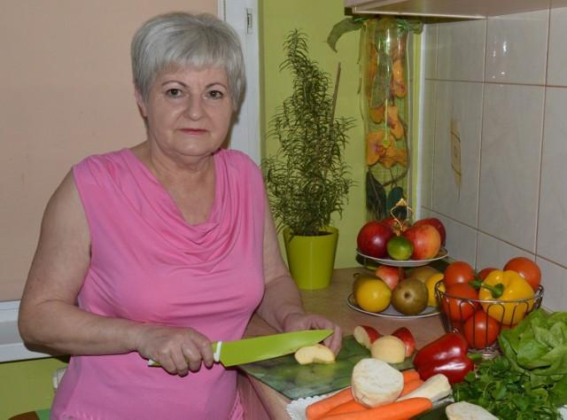 To zdjęcie Jadwigi Smolińskiej zdobiło jej pierwszą książkę kucharską. Za kilka dni sesja zdjęciowa do drugiej edycji książki.