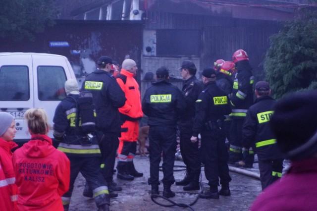 Pożar przy ulicy Chmielnej w Kaliszu