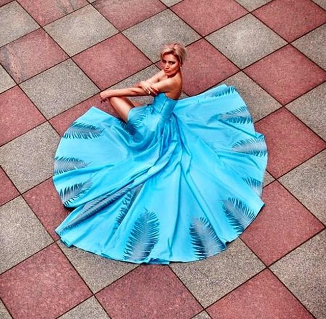 Ilona Kanclerz w sukni zaprojektowanej przez nią dla Miss Śląska