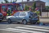 Wypadek w Jejkowicach. Wjechał w samochód, który zatrzymał się przed przejściem. Kierowca trafił do szpitala