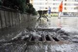 Lubin: Ulewa podtopiła szpital i piwnice