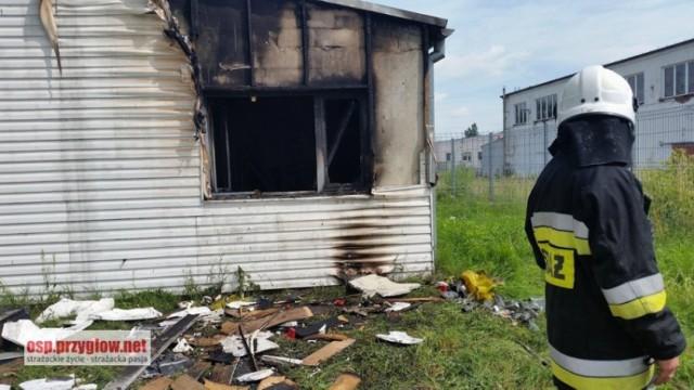 Pożar gasiło sześć zastępów
