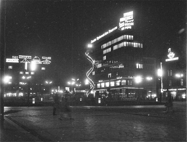 Neony w Katowicach w latach 70 i 80 XX-wieku pięknie rozświetlały nocą miasto