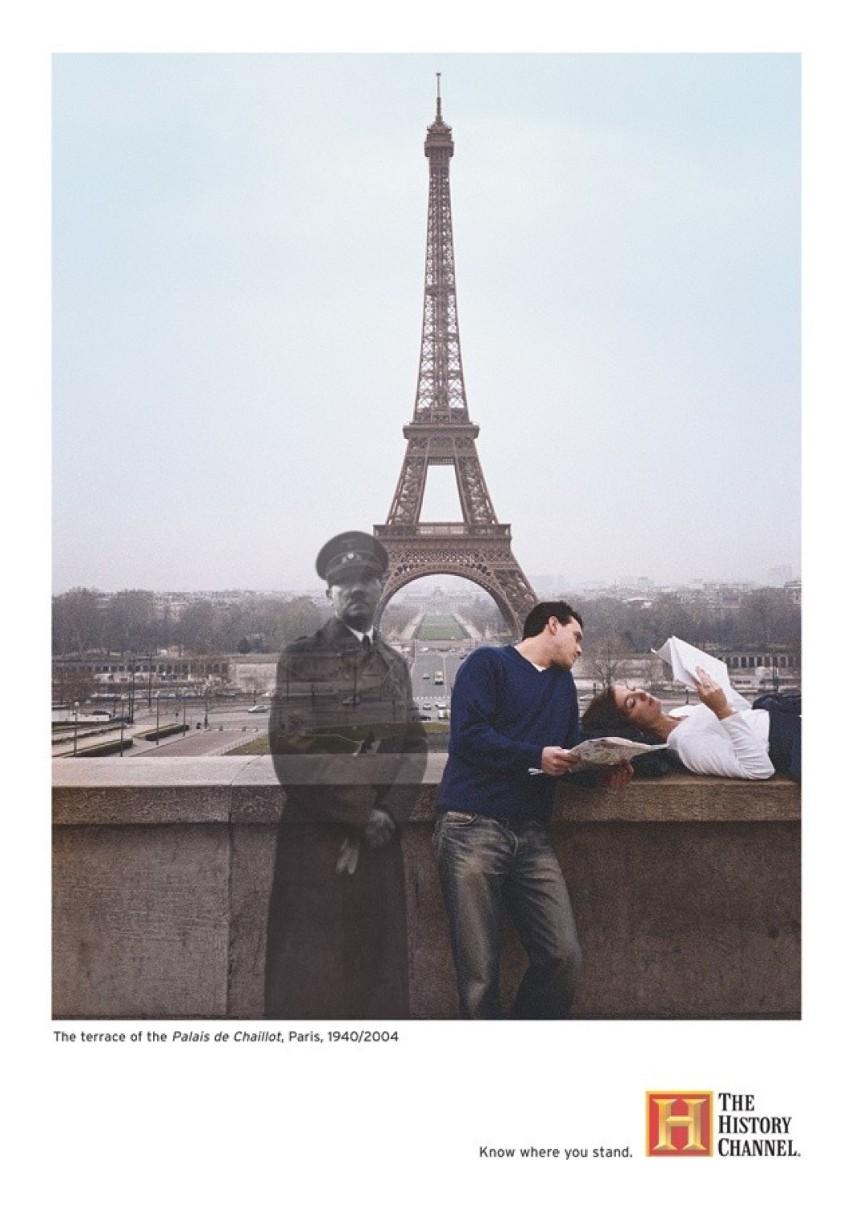 Paryż, taras Palais de Chaillot: 1940/2004Palais de...