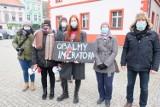 Protest kobiet w Lubsku przeciwko orzeczeniu Trybunału Konstytucyjnego ws. aborcji