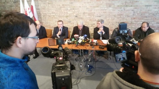 Konferencja prasowa związkowców
