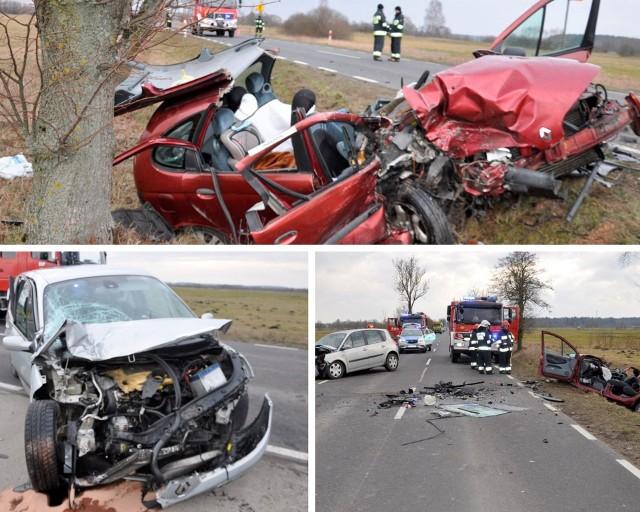 Wypadek dwóch samochodów osobowych pod Białą Piską. Trzy osoby są poszkodowane, w tym 3-letni chłopiec.