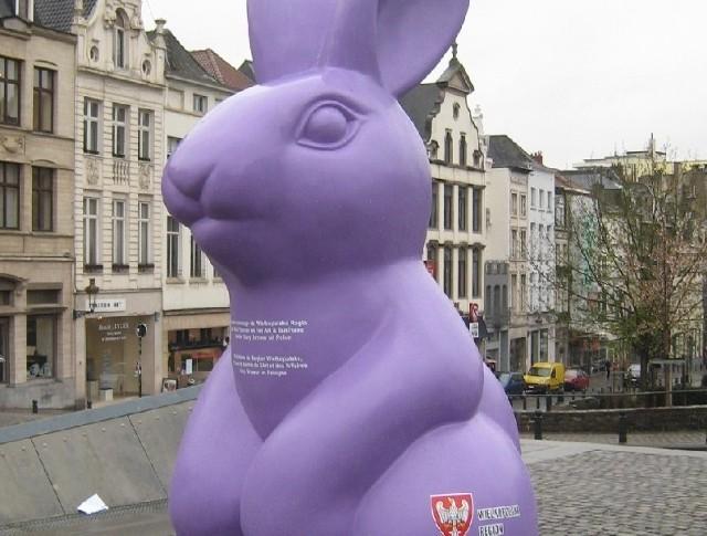 Ten nowosolski zając powędrował aż do serca zjednoczonej Europy i stanął w belgijskiej Brukseli (fot. Stary Browar)