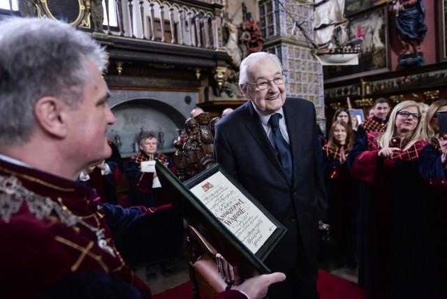 Andrzej Wajda został Honorowym Obywatelem Miasta Gdańska