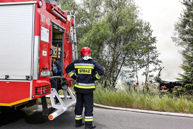 Pożar przy ul. Gdańskiej w Szczecinie