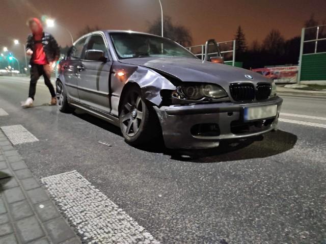 Kolizja dwóch aut na ul. Nałęczowskiej w Lublinie