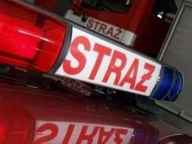 Służby przybyły pod budynek Izby Skarbowej w Szczecinie.