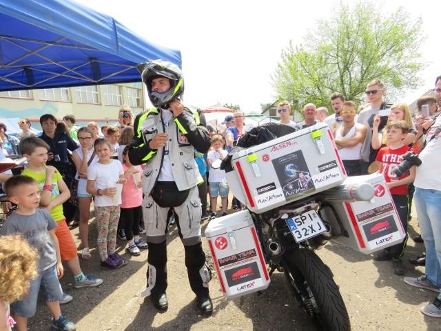 Tomasz Gorzędowski z Piekar wyrusza w podróż motocyklem dokoła świata