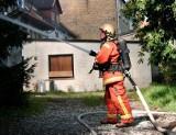 Pożar stodoły w Sarbinowie. Z ogniem walczyło 13 jednostek straży