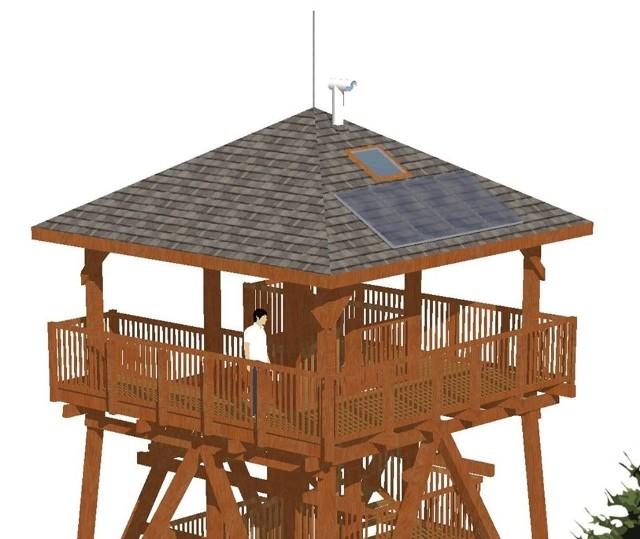 Ostatnia kondygnacja planowanej wieży widokowej