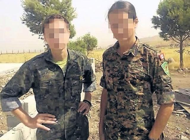 Syria. Joanna M.- F. (na zdj. z lewej), obok ochotniczki z Kanady